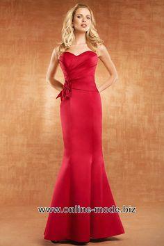 Bustier Abend Kleid in Rot