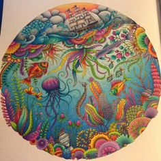 Image result for lost ocean colouring book completed