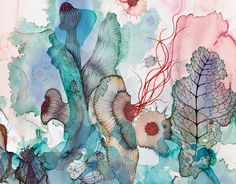 monika tichacek - Google Search Australian Artists, Watercolor, Watercolor Artist, Painting, Abstract Artwork, Artwork, Abstract
