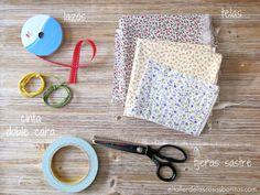 DIY Cómo hacer bolsa de tela sin coser
