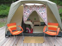 Welcome to Deb's Glampground-another view. and look, it has my name on it! (not the tent, the blurb) ;)