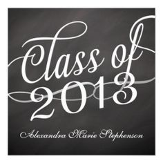 Swirly Square Class of 2013 Announcement