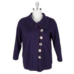 2755378f6bc Neon Buddha Plus Size Westport Jacket  VonMaur  NeonBuddha  Purple  Buttons Plus  Size