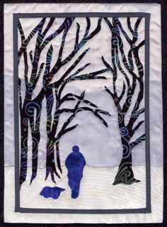 Walk in the Woods Mixed Media Photo Greetings by AngiesTextileArt, Kids Collage, Landscape Quilts, Walk In The Woods, Winter Art, Mug Rugs, Felt Art, Mixed Media Art, Textile Art, Artsy Fartsy