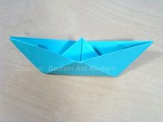 Papierschiff falten - Papier falten - Origami Boot - Einfaches Schiff ba...