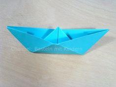 Papierschiff falten - Papier falten - Origami Boot - Einfaches Schiff basteln mit Papier - YouTube
