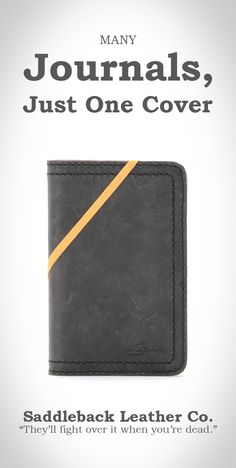 Saddleback Leather Moleskine Cover in Carbon | 100 Year Warranty | $45.00