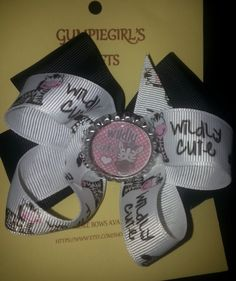 Cute Bows- Zebra Wildly Cute or Fishin' Cutie by GumpiegirlsGifts on Etsy