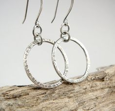 #Fine #Silver #Hoop #Earrings  Lightweight #Minimal by TouchOfSilver