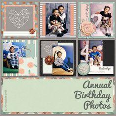 Family Album 1999: Annual Birthday Photos   Pixel Scrapper digital scrapbooking