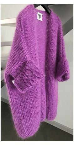 Knitwear Fashion, Knit Fashion, Fashion Fashion, Fashion Jewelry, Crochet Cardigan, Knit Crochet, Wool Cardigan, Hand Knitting, Knitting Patterns