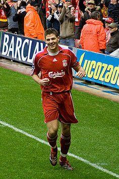 Captain Fantastic! Steven Gerrard Liverpool Football Club.