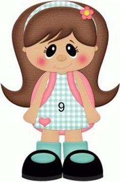 Silhouette Design Store - View Design school girl w backpack pnc Paper Piecing, Foam Crafts, Paper Crafts, Craft Foam, Silhouette Online Store, Clip Art, Class Decoration, Dibujos Cute, Cute Clipart