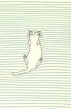 line drawings, cat art, kitty cats, art illustrations, graphic, iphone wallpaper, cat illustrations, cat naps, print