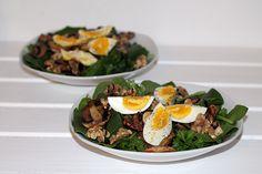 Rezept: Spinat-Ei-Salat | Projekt: Gesund leben | Blog über Ernährung, Bewegung und Entspannung
