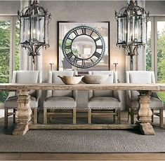 Totally Inspiring Rustic Reclaimed Wood Dining Room Table Ideas Home Ideas Farmhouse Dining Room Table, Farmhouse Dining Chairs, Farmhouse Style Kitchen, Dining Tables, Farmhouse Ideas, Tiny Dining Rooms, Dining Room Walls, Dining Room Design, Furniture Restoration