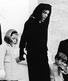Jacqueline Kennedy Onassis was the 35th First Lady-seen here at the funeral of her husband, President John F. Kennedy