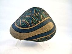 3D Art Painted Rock Zen Art Serene Blue Art Rustic Decor Unique Gifts for Home Decor Cool Office Gifts Fantastic Wedding Gifts Collectibles