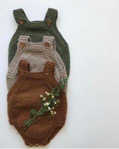 """909 Synes godt om, 7 kommentarer – PetiteKnit • knitting patterns (@petiteknit) på Instagram: """"@hanneoorlien har strikket disse tre Lillebrors Romper, og jeg er helt vild med farvevalget 🌿 Find…"""" Knitting Club, Knitting For Kids, Knitting Projects, Baby Knitting, Crochet Baby, Knitted Baby Clothes, Baby Kids Clothes, Baby Boy Outfits, Kids Outfits"""