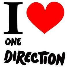 NEW Screen Printed TShirt I Heart Love One Direction Music S 3XL Free Shipping