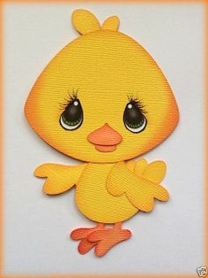 MADE TO ORDER EASTER BABY CHICK PAPER PIECING BY MY TEAR BEARS