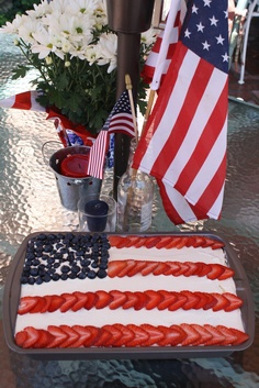 This would be pretty on the 4th of July table.