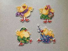cross'n'stitch chickens