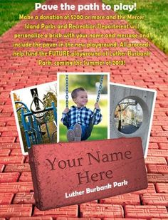 Playground fundraising - Commemorative brick flyer