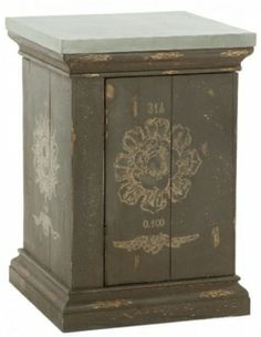 Aidan Gray Medallion Side Table with Tin Top