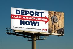 PETA Ad Calls For Deporting 'Undesirable' Trophy Hunter Donald Trump Jr. Throw the rest of the grifter family out too.