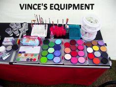 Face painter's set up #facepaint #facepainting #facepaintschool