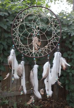 Chocolate & Turquoise Dreamcatcher Native American by Dreamforum, $190.00