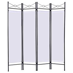 nice Giantex 4 Panel Room Divider Privacy Screen Home Office Fabric Metal Frame