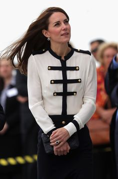 Catherine, Duchess of Cambridge, patron of the 1851 Trust, arrives at Land Rover BAR on May 20, 2016 in Portsmouth, England.