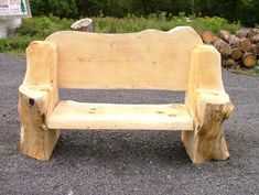 Awesome Log Bench!  www.wulfcreekdesigns.com: