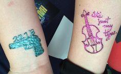 BBC SHERLOCK Henna tattoos. Johns Gun -221B And Sherlocks Violin -It's just my type