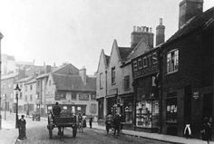 London Road, Nottingham, c 1893.  Nos 1-7. Boots the Chemists shop (no.2 ) shown: