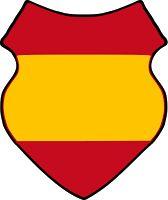BELLUMARTIS HISTORIA MILITAR: ESPAÑOLES EN LOS ÚLTIMOS DÍAS DEL TERCER REICH. I PARTE  parche del brazo de la Legión Azul y posiblemente de los Españoles de Berlin. Modelo de escudo de tropas extranjeras de la Werhmacht