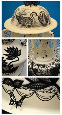serious talent here...anyone who has piped cornelli lace..let alone black lace on white..thats nerves of steel