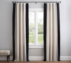 ikea curtain hack Archives - Designing Vibes - Interior Design, DIY and Lifestyle Custom Drapes, Decor, Ikea Curtains, Pottery Barn Curtains, Curtains, No Sew Curtains, Ikea Drapes, Window Coverings Diy, Ikea