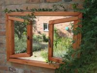 2ft 2in x 3ft 2in Garden Mirror Illusion – Open Double Window