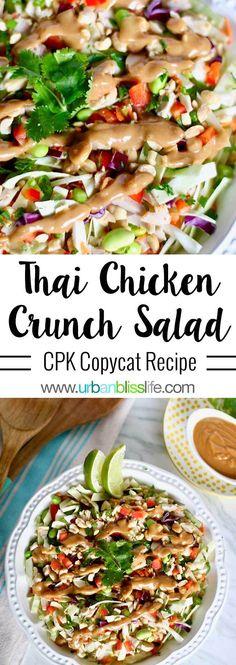 Thai Chicken Salad with Peanut Dressing - CPK Copycat recipe