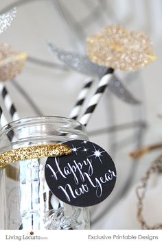 New Years Eve Party Printables - Free Printable 2014 Great on bottles of #Lynfred Sparkling wines!