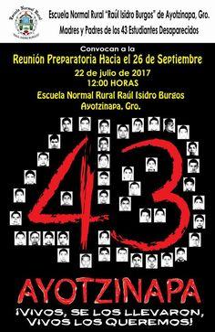 AYOTZINAPA: CONVOCAN A PREPARAR EL III ANIVERSARIO DEL 26 DE SEPTIEMBRE