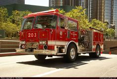 Seagrave Marauder Pumper Los Angeles Fire Department Emergency Apparatus Fire Truck Photo
