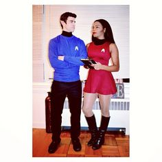 Star Trek Spock and Uhura: A super fun and easy DIY Halloween costume for couples.