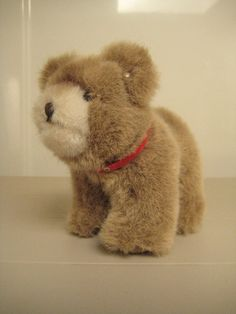 Steiff Vintage Browny Teddy Bear with silver lentil button - 12 cm - EAN 1445/12 - 1977 to 1984.