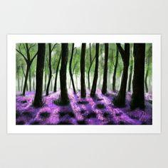 The Purple Forrest Art Print by Richard Eijkenbroek - $16.64