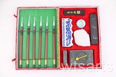 WTS Chinese Calligraphy / Painting Set (Large 6 Brush) Japanese Sumi e Ink  | eBay