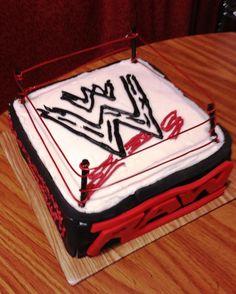 Wrestling Rink Cake.. haileys next birthday cake!